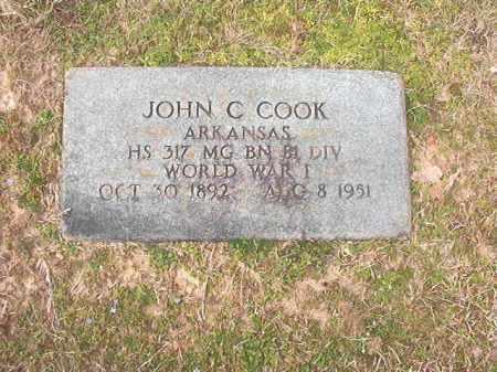 COOK (VETERAN WWI), JOHN C - Lafayette County, Arkansas   JOHN C COOK (VETERAN WWI) - Arkansas Gravestone Photos