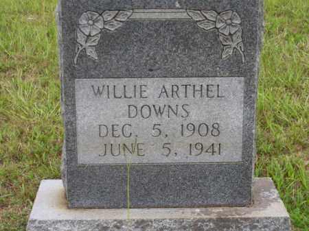 DOWNS, WILLIE ARTHEL - Lafayette County, Arkansas | WILLIE ARTHEL DOWNS - Arkansas Gravestone Photos