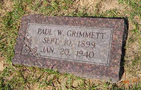 GRIMMETT, PAUL W - Lafayette County, Arkansas | PAUL W GRIMMETT - Arkansas Gravestone Photos
