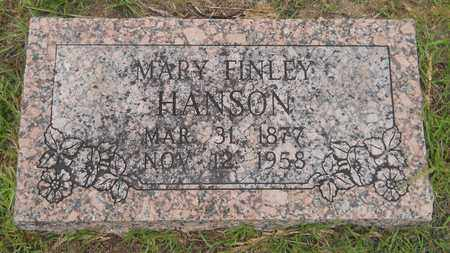 FINLEY HANSON, MARY - Lafayette County, Arkansas | MARY FINLEY HANSON - Arkansas Gravestone Photos