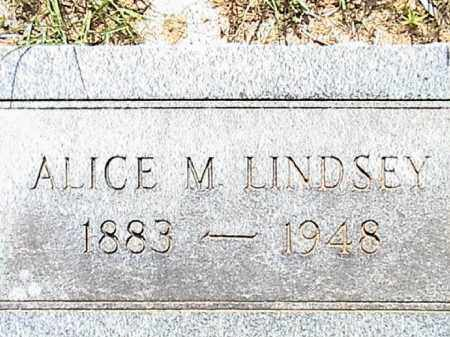 LINDSEY, ALICE M. - Lafayette County, Arkansas | ALICE M. LINDSEY - Arkansas Gravestone Photos
