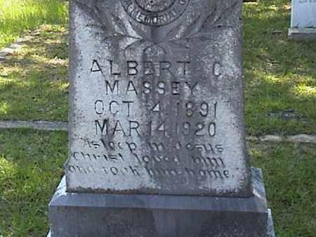 MASSEY, ALBERT CARSON CLOSE UP) - Lafayette County, Arkansas | ALBERT CARSON CLOSE UP) MASSEY - Arkansas Gravestone Photos