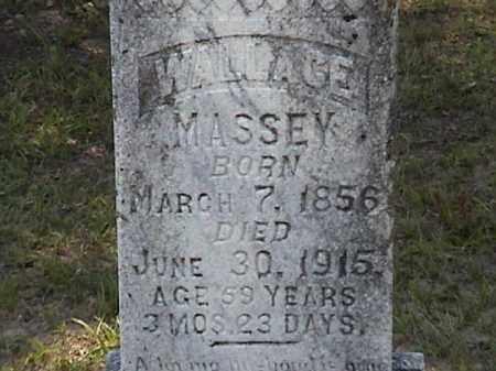 MASSEY, JAMES WALLACE (CLOSE UP) - Lafayette County, Arkansas | JAMES WALLACE (CLOSE UP) MASSEY - Arkansas Gravestone Photos