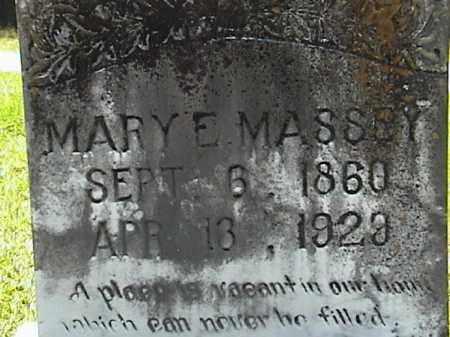 MASSEY, MARY ELIZABETH (CLOSE UP) - Lafayette County, Arkansas | MARY ELIZABETH (CLOSE UP) MASSEY - Arkansas Gravestone Photos