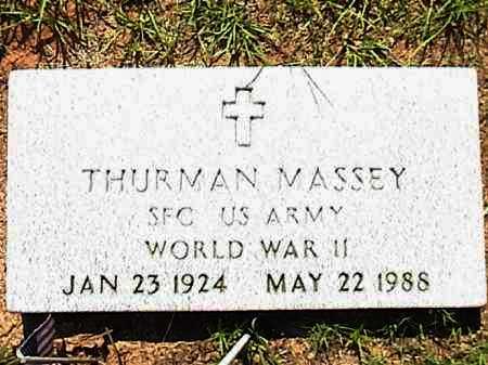 MASSEY (VETERAN WWII), THURMAN - Lafayette County, Arkansas   THURMAN MASSEY (VETERAN WWII) - Arkansas Gravestone Photos