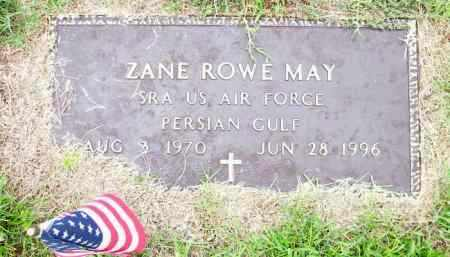 MAY (VETERAN PGW), ZANE ROWE - Lafayette County, Arkansas | ZANE ROWE MAY (VETERAN PGW) - Arkansas Gravestone Photos