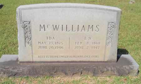 MCWILLIAMS, I N - Lafayette County, Arkansas | I N MCWILLIAMS - Arkansas Gravestone Photos
