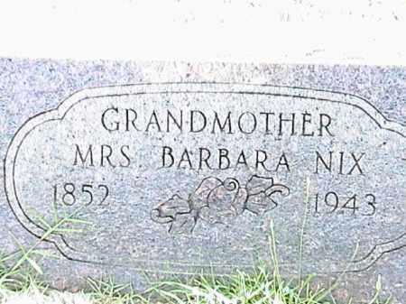 NIX, BARBARA - Lafayette County, Arkansas | BARBARA NIX - Arkansas Gravestone Photos