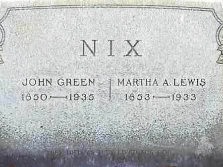 LEWIS NIX, MARTHA A. - Lafayette County, Arkansas | MARTHA A. LEWIS NIX - Arkansas Gravestone Photos