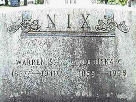 NIX, WARREN S. - Lafayette County, Arkansas | WARREN S. NIX - Arkansas Gravestone Photos