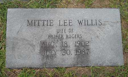 WILLIS ROGERS, MITTIE LEE - Lafayette County, Arkansas | MITTIE LEE WILLIS ROGERS - Arkansas Gravestone Photos