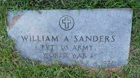 SANDERS (VETERAN WWI), WILLIAM A - Lafayette County, Arkansas   WILLIAM A SANDERS (VETERAN WWI) - Arkansas Gravestone Photos