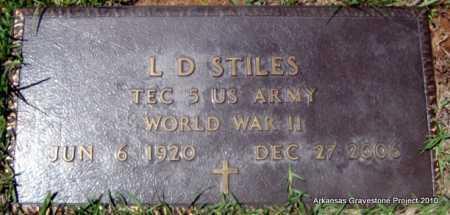 STILES (VETERAN WWII), L D - Lafayette County, Arkansas   L D STILES (VETERAN WWII) - Arkansas Gravestone Photos