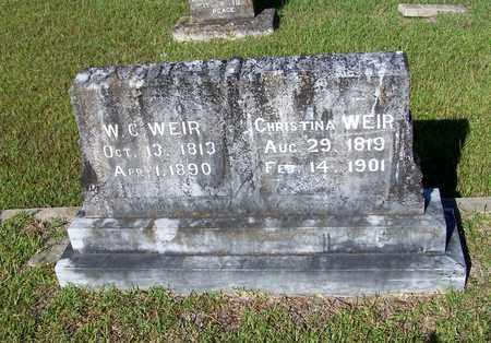 WEIR, W.C. - Lafayette County, Arkansas | W.C. WEIR - Arkansas Gravestone Photos
