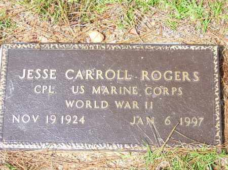 ROGERS (VETERAN WWII), JESSE CARROLL - Lafayette County, Arkansas | JESSE CARROLL ROGERS (VETERAN WWII) - Arkansas Gravestone Photos