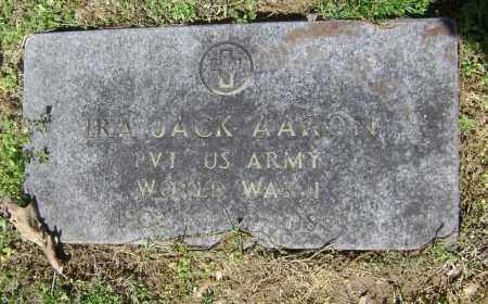 AARON  (VETERAN WWI), IRA JACK - Lawrence County, Arkansas | IRA JACK AARON  (VETERAN WWI) - Arkansas Gravestone Photos