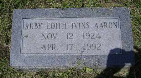 IVINS AARON, RUBY EDITH - Lawrence County, Arkansas | RUBY EDITH IVINS AARON - Arkansas Gravestone Photos