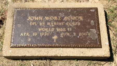 ACHOR (VETERAN WWII), JOHN WORZ - Lawrence County, Arkansas | JOHN WORZ ACHOR (VETERAN WWII) - Arkansas Gravestone Photos