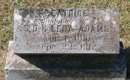 ADAMS, BEATRICE - Lawrence County, Arkansas   BEATRICE ADAMS - Arkansas Gravestone Photos