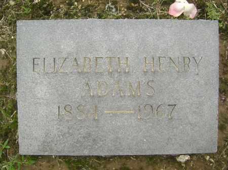 ADAMS, ELIZABETH - Lawrence County, Arkansas | ELIZABETH ADAMS - Arkansas Gravestone Photos