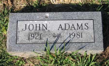 ADAMS, JOHN - Lawrence County, Arkansas   JOHN ADAMS - Arkansas Gravestone Photos