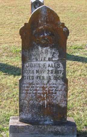 ADAMS ALLS, LEAH E. - Lawrence County, Arkansas   LEAH E. ADAMS ALLS - Arkansas Gravestone Photos