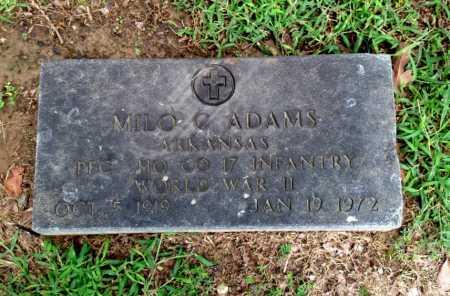 ADAMS (VETERAN WWII), MILO CLAUDE - Lawrence County, Arkansas | MILO CLAUDE ADAMS (VETERAN WWII) - Arkansas Gravestone Photos