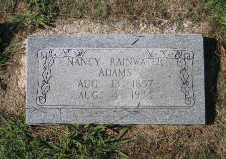 RAINWATER ADAMS, NANCY C. - Lawrence County, Arkansas | NANCY C. RAINWATER ADAMS - Arkansas Gravestone Photos
