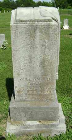 AGEE, WILLIAM H. - Lawrence County, Arkansas | WILLIAM H. AGEE - Arkansas Gravestone Photos