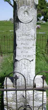 ALEXANDER, GEORGE W. - Lawrence County, Arkansas | GEORGE W. ALEXANDER - Arkansas Gravestone Photos