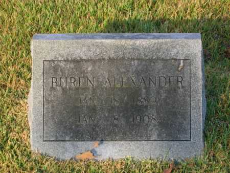 ALEXANDER, CALVIN BUREN - Lawrence County, Arkansas   CALVIN BUREN ALEXANDER - Arkansas Gravestone Photos