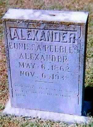 PEEBLES ALEXANDER, EUNISSA - Lawrence County, Arkansas | EUNISSA PEEBLES ALEXANDER - Arkansas Gravestone Photos