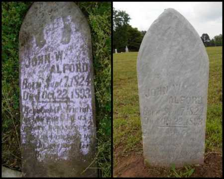 ALFORD, JOHN W. - Lawrence County, Arkansas | JOHN W. ALFORD - Arkansas Gravestone Photos