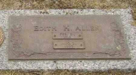 ALLEN, EDITH H. - Lawrence County, Arkansas | EDITH H. ALLEN - Arkansas Gravestone Photos