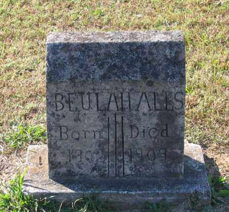 ALLS, BEULAH - Lawrence County, Arkansas | BEULAH ALLS - Arkansas Gravestone Photos