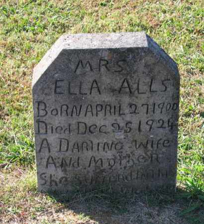 JAMES ALLS, ELLA - Lawrence County, Arkansas | ELLA JAMES ALLS - Arkansas Gravestone Photos