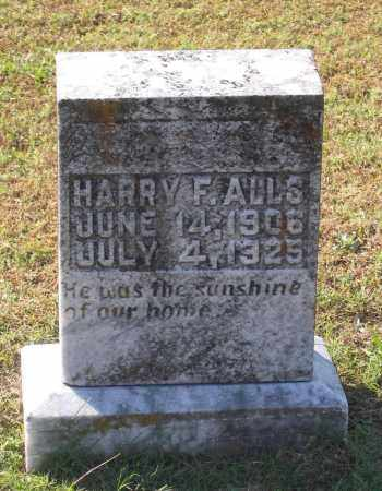 ALLS, HARRY F. - Lawrence County, Arkansas   HARRY F. ALLS - Arkansas Gravestone Photos