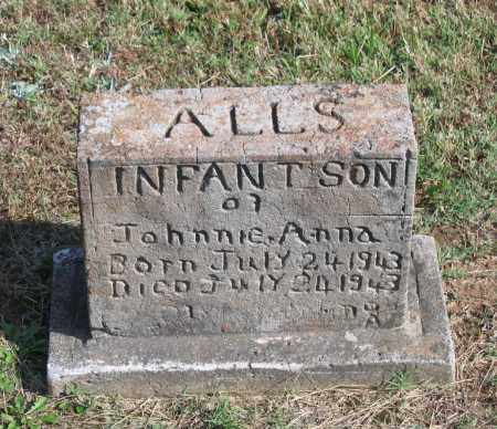 ALLS, INFANT SON - Lawrence County, Arkansas   INFANT SON ALLS - Arkansas Gravestone Photos
