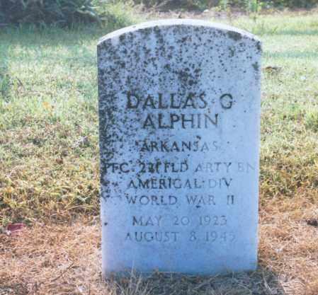 ALPHIN (VETERAN WWII), DALLAS G - Lawrence County, Arkansas | DALLAS G ALPHIN (VETERAN WWII) - Arkansas Gravestone Photos