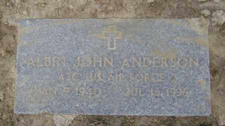ANDERSON  (VETERAN), ALBIN JOHN - Lawrence County, Arkansas | ALBIN JOHN ANDERSON  (VETERAN) - Arkansas Gravestone Photos