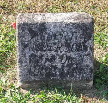 ANDERSON, ALBERT LEE - Lawrence County, Arkansas | ALBERT LEE ANDERSON - Arkansas Gravestone Photos