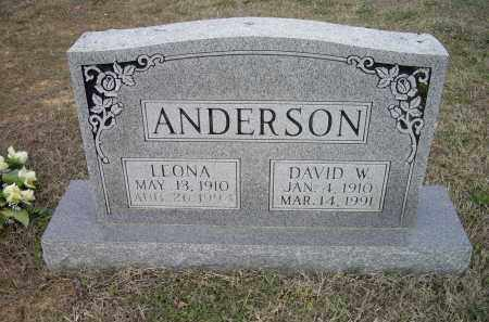 COWAN ANDERSON, LEONA - Lawrence County, Arkansas | LEONA COWAN ANDERSON - Arkansas Gravestone Photos