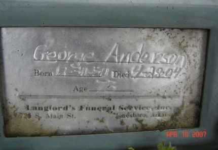 ANDERSON, GEORGE - Lawrence County, Arkansas | GEORGE ANDERSON - Arkansas Gravestone Photos