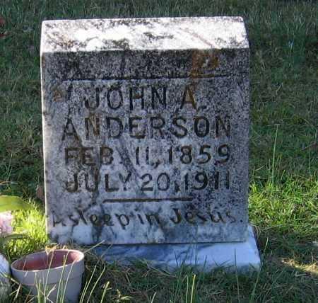 ANDERSON, JOHN A. - Lawrence County, Arkansas | JOHN A. ANDERSON - Arkansas Gravestone Photos