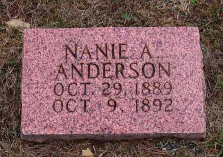 ANDERSON, NANIE A. - Lawrence County, Arkansas | NANIE A. ANDERSON - Arkansas Gravestone Photos
