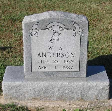 "ANDERSON, WARREN ALBERT ""W. A."" - Lawrence County, Arkansas | WARREN ALBERT ""W. A."" ANDERSON - Arkansas Gravestone Photos"