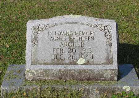 ARCHER, AGNES KATHLEEN - Lawrence County, Arkansas | AGNES KATHLEEN ARCHER - Arkansas Gravestone Photos