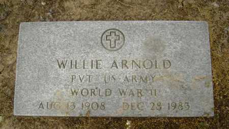 ARNOLD  (VETERAN WWII), WILLIE - Lawrence County, Arkansas | WILLIE ARNOLD  (VETERAN WWII) - Arkansas Gravestone Photos