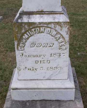 BABER (VETERAN CSA), MILTON DYER - Lawrence County, Arkansas | MILTON DYER BABER (VETERAN CSA) - Arkansas Gravestone Photos