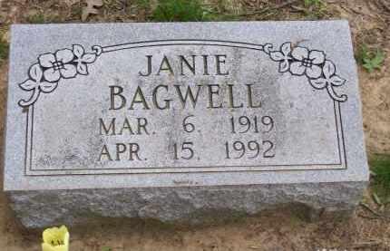 "GRAY BAGWELL, JAN ""JANIE"" - Lawrence County, Arkansas | JAN ""JANIE"" GRAY BAGWELL - Arkansas Gravestone Photos"